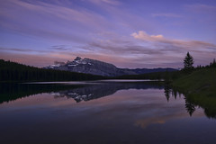 Just Before Dawn at Two Jack (Jeff Clow) Tags: travel vacation holiday canada nature june landscape outside outdoors getaway alberta banff mothernature 2016 jeffrclow