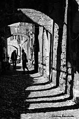 - Rodos island (Eleanna Kounoupa) Tags: street blackandwhite bw shadows traditional silhouettes greece oldtown rodos  historicalcenter blackwhitephotos dodecaneseislands   hccity