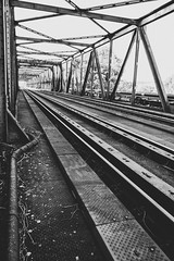 Destination (mripp) Tags: rail tracks black white mono monochrom mobile art kunst bavaria bayern germany leica q train