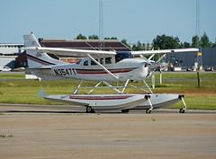 N3547T (Skidmarks_1) Tags: norway airport aircraft aviation cessna osl floatplane engm t206h oslogardermoenairport n3547t