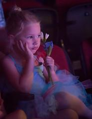 Tiny ballerina watches the Show (tibchris) Tags: cute ballerina pink blue blonde tot littlegirl child ballet performer arieldanceproductions arieldance arieldancestudio ariel soft