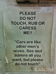 Beware - Please Do Not Touch (radi0head pix'el) Tags: auto men cars women photos foam kuala kualalumpur wives kl unlimited caress rub lumpur unlimitedphotos autofoam klauto