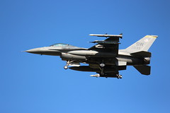 F-16C, 039, Myrtle Beach, South Carolina, Spring 2016, (2) (hondagl1800) Tags: blue airplane myrtlebeach outdoor aircraft jet southcarolina falcon vehicle airforce viper usaf usairforce militaryaircraft 039 fightingfalcon f16c spring2016