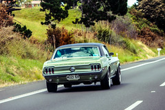 Ford Mustang (SafarNAAMAA) Tags: ford daylight motion auckland highway beauty honeymoon new zealand newzealand green plants mustang classic rear view tailight sunny day heaven