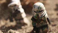 Grounded (Kyle Hardisty) Tags: california lighting trooper macro brick field grass rock canon kyle lens photography rebel star rocks arms lego fig outdoor lakes arc may 4th mini arf dirt mammoth captain stormtrooper 501st wars pancake 40mm custom clone rex airborne twigs depth f28 commander sl1 minifigure 2016 brickarms hardisty
