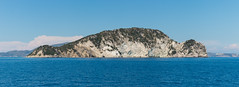 Marathonisi Island panorama (emilhallengren) Tags: ocean trip travel sea panorama landscape island boat greece boattrip turtleisland zante laganas zakynthos ionianislands marathonisi marathonisiisland