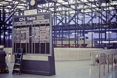 Ottawa Union Station, 1960's (Jon Archibald) Tags: railroad ontario station cn train pacific diesel ottawa union railway canadian via national epson locomotive passenger kodachrome cp fp7 emd gmd clerestory v750 fp9
