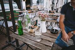 Cool atmosphere (krkojzla) Tags: wood flowers man flower water analog vintage table glasses bokeh 28mm atmosphere calm retro flowerpot canon5d calmness woodentable canon28mmf28 calmatmosphere