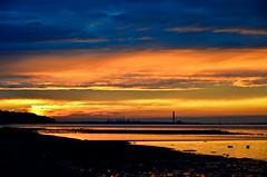DSC_5566 (timnutt) Tags: isleofwight coast seaside chimney sunset silhouette clouds beach sea ocean refinery