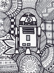 Are Too Dee Too (Manurnakey) Tags: starwars postcard doodle handdrawn maythe4th zentangle zendoodle