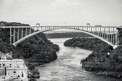 Lewiston Queenston Bridge (JohnBorsaPhoto) Tags: plant canada electric america project river power dam united border canadian niagara hydro gorge states hydroelectric