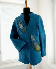 Felt jacket for man (B.ea) Tags: man men felting handmade felt jacket renata handcraft bea holkova holkov