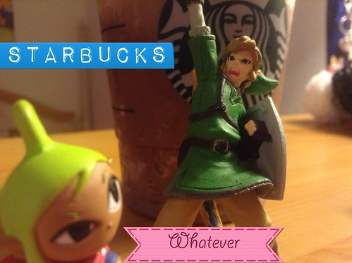 Link loves Starbucks