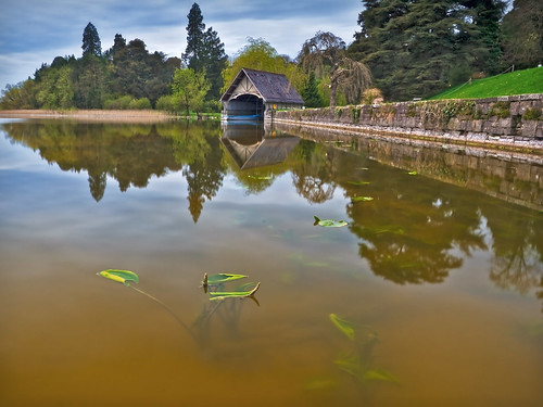 The boat house at Castle Leslie