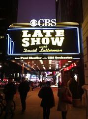 Late Show with David Letterman (Daniela Yanzon) Tags: newyork cbs davidletterman