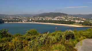 Playa de Cabanas y desembocadura del Río Eume.