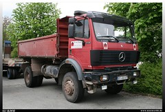 "Mercedes Benz SK/MK 1735 ""Richard Triebner"" (uslovig) Tags: truck germany bayern deutschland bavaria mercedes benz dump lorry camion richard kipper sk franken mb mk lastwagen neustadt lkw laster 1735 bauunternehmen sonnefeld triebner wellmersdorf"