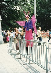 1989 NYC Gay Pride Parade (rosathorns) Tags: stilts nycgayprideparade