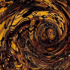Amber-grained Stairwell Swirl (seattlerayhutch45) Tags: brown abstract square gold mirror amber beige ripple stairwell swirl repeat bulge digitalmanipulation acdsee scatteredtiles shatteredtiles
