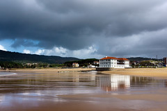 plentzia beach with stormy weather and reflections (Mimadeo) Tags: travel light house storm reflection beach reflections town village stormy vacations plentzia bizkaia gorliz euskadi vizcaya basquecountry paisvasco turism biscay