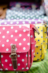 Spotted Handbags (Ancisace) Tags: street bath colorful spots handbags dots purses polkadot