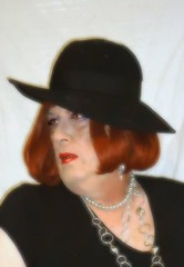 6-18-11 (prettysissydani) Tags: portrait hat crossdressing redhead gloves