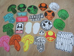 SHROOM PACK (andres musta) Tags: sticker stickerart stickers shrom