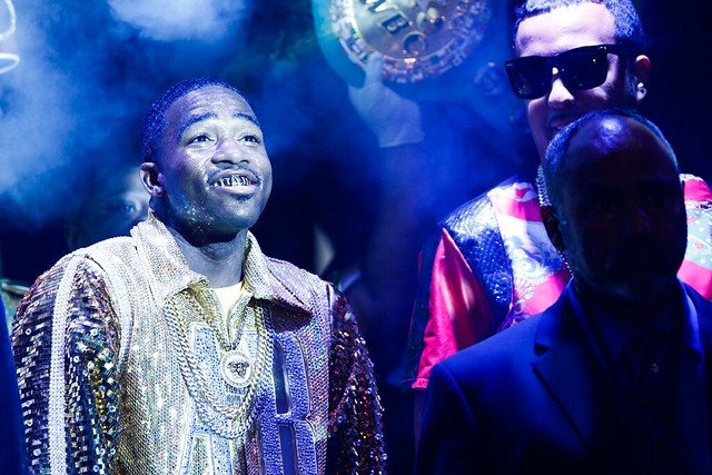Adrien Broner walks out