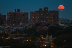 Super Moon over Brooklyn (Barry Yanowitz) Tags: nyc newyorkcity moon ny newyork brooklyn flickr dumbo fortgreene clintonhill nycity downtownbrooklyn 718 downunderthemanhattanbridgeoverpass perigeemoon supermoon
