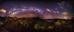 The Milky Way over Machu Picchu from the summit of Putucusi. (tmo-photo) Tags: peru night fav50 fav20 panoramic machupicchu fav30 sacredvalley milkyway fav10 fav40 fav60 fav90 fav80 fav70 tmophoto