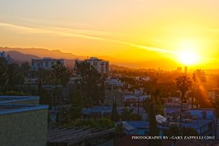 Sunrise Over the Hollywood Hills