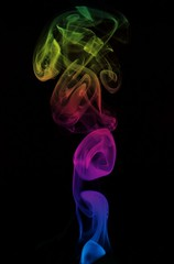 Smoke Art - Rainbow Tower (Feggy Art) Tags: abstract tower art canon photography rebel photo rainbow artwork kiss photos smoke flash creative trail burn stick winding pure vivitar wispy incense wisp strobe plumes drifting drift xsi whisp unit plume ignite x2 inscents 283 flashgun inscent whaft smokeart artsmoke insent strobist 450d insents feggy themacrogroup yongnuo victius yn467 whafting