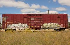 STALK SOKE (The Braindead) Tags: art minnesota train bench photography graffiti painted tracks minneapolis rail explore beyond the