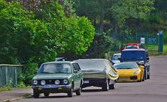 Odd mix of cars (saabrobz) Tags: chevrolet mercedes g toyota impala 95 93 lamborghini saab corolla gallardo gwagen wagen sportcombi
