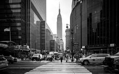 8th Avenue & 33rd Street (Sven Hein) Tags: nyc newyorkcity summer blackandwhite bw usa newyork architecture skyscraper can