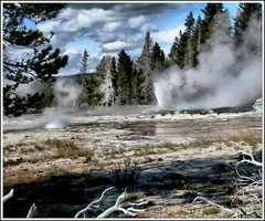 Yellowstone Geyser Basin #1 - Painting (Paddrick) Tags: art digital painting yellowstone geyser paddrick paintograph