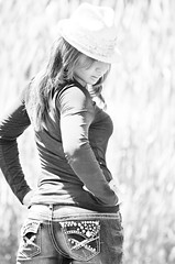 Thai Model (Nathan Greninger) Tags: portrait woman white black sexy hat female reeds hair back model looking thai technique