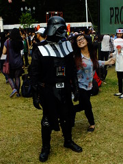 Teasing Vader (DaiaX) Tags: japan star starwars jakarta darth wars vader matsuri 2013 jakjapan matsuri2013