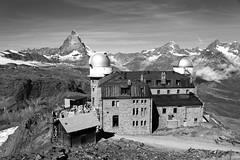 Gornergrat (csobie) Tags: blackandwhite mountains alps canon landscape switzerland swiss observatory alpine gornergrat zermatt matterhorn valais cervin 24105f4l 5dmkii