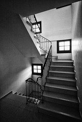 Stairs (big andrei) Tags: leica light bw home window architecture stairs voigtlander wideangle m8 escaleras ultrawideheliar 12mm56