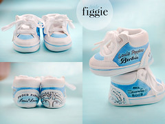 "Baby Louis | Painted Newborn Boys' Shoes (Figgie (a.k.a. ""The Girl With the Shoes"")) Tags: family blue boy baby elephant love boys shower infant child heart gift newborn familytree 2013 figgie figgiephotography figgieshoes figgiecouture littlefiggie"