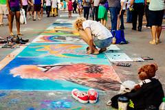 SPARKcon 2013 (Dan | Hacker | Photography) Tags: streetart art chalk pastel northcarolina raleigh converse chucks streetpainting vscofilm sparkcon2013