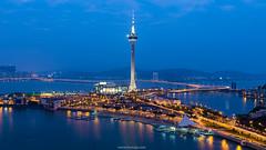Macau tower (Tonnaja Anan Charoenkal) Tags: china city travel building tower architecture cityscape macau