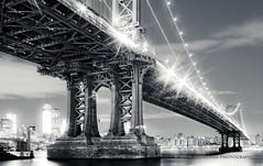 Manhattan Bridge - Brooklyn, New York City (Nico Geerlings) Tags: nyc newyorkcity longexposure usa ny newyork brooklyn night 35mm us view manhattan dumbo summicron manhattanbridge manhattanskyline lowermanhattan newyorkbynight dumbobrooklyn dumbonyc bestcapturesaoi mygearandme nicogeerlings leicammonochrom inspiringcreativeminds