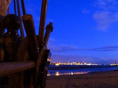 Evening at The Black Pearl (Fleety Vision) Tags: new black beach halloween seaside brighton ship pirate pearl wirral