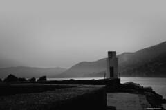 Dusk bn (Dario Baruzzi) Tags: sea italy white black digital photo intense italian photographer dusk photographers hills imaging editing finishing
