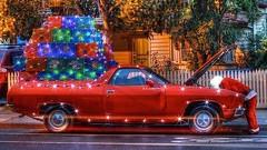 A funny poem worth repeating    :-) (Aussie~mobs) Tags: twasthenightbeforechristmas santa santaclaus christmas australia ute car
