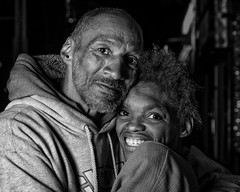 Homeless in Albuquerque - Joe and Denise (Mitch Tillison Photography) Tags: portrait night pose happy photography couple photoshoot homeless streetphotography albuquerque nighttime inspirational optimism truelove dignity inspiring centralavenue adversity sigma70300f456dl mitchtillison mitchelltillison yongnuo560 godoxex600 idealweddingphotography pentaxk3 potd:country=usa