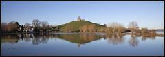 Burrow Mump Reflections (CliveDodd) Tags: church st flooding flood somerset levels michaels burrow mump