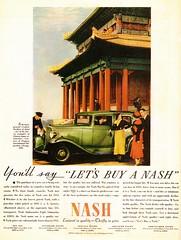 1933 Nash Big Six Four-Door Sedan (aldenjewell) Tags: door chicago century sedan four golden big ad progress international exposition pavilion lama nash six 1933 jehol